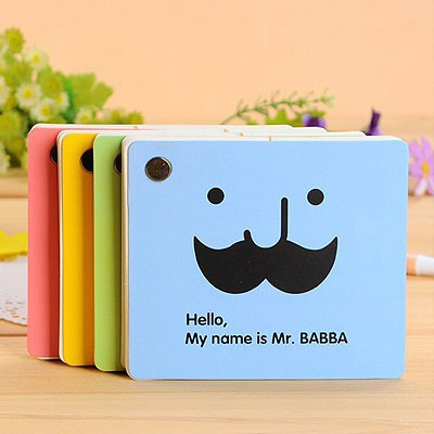 Screw Color Will Be Random Moustache Pattern Paper Notebook Agenda