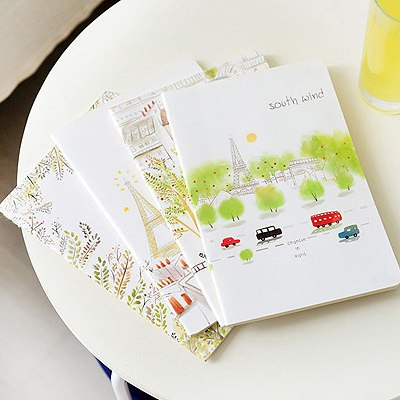 Premier Color Will Be Random Cartoon Illustration Style Paper Notebook Agenda