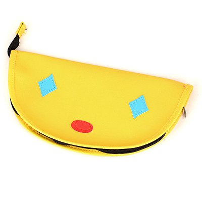 Skinny Yellow Clown Pattern Design Leather Pencil Case Paper Bags
