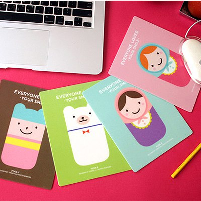 Monogramme Color Will Be Random Cartoon Illustration Style Pvc Computer supplies
