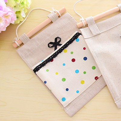 Direct Color Will Be Random Bowknot&Dot Decorated Design Linen Household goods