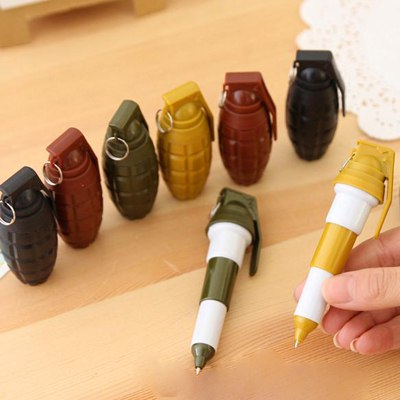 Affinity Color Will Be Random Scalable Hand Grenades Design Plastic Writing Pens