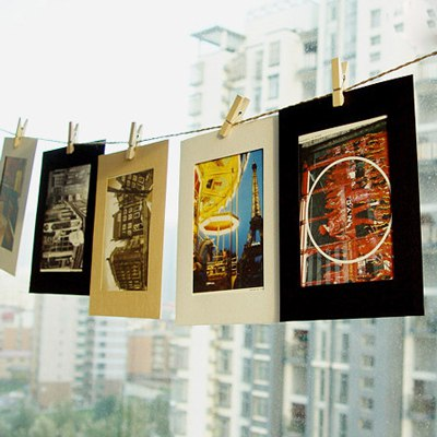 Packaging Color Will Be Random Frame Shape Design Paper Postcard Card