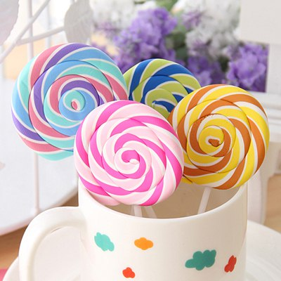 Misses Color Will Be Random Lollipop Shape Design Rubber Other Creative Stationery