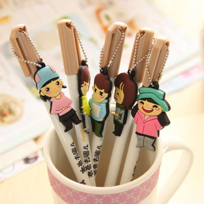 Claddagh Color Will Be Random Cartoon Child Design Plastic Writing Pens