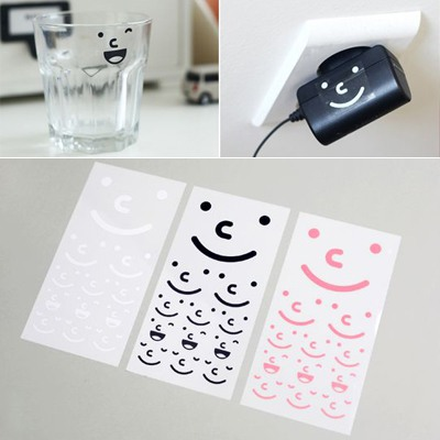 Peridot Color Will Be Random Expression Pattern Waterproof Design PVC Stickers Tape