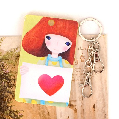 Luxurious Picture Color Holding Heart Shape Girl Pattern Design Abs Resin Household goods
