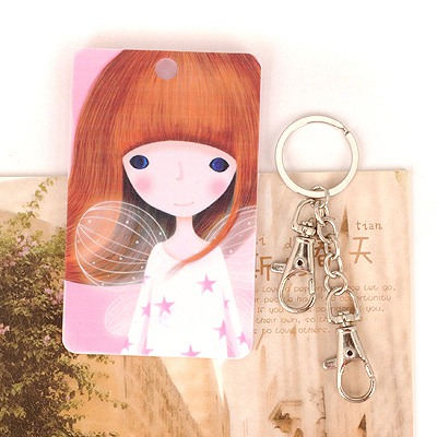 Memorable Picture Color Angel Girl Pattern Design Abs Resin Household goods