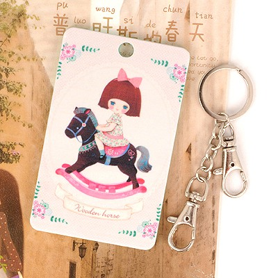 Fake Picture Color Riding A Horse Girl Pattern Design Abs Resin Household goods
