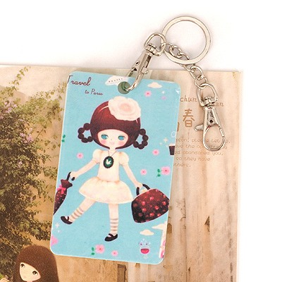 Urban Picture Color Holding A Bag Girl Pattern Design Abs Resin Household goods