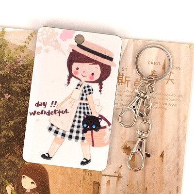 Scottish Picture Color Holding A Basket Girl Pattern Design Abs Resin Household goods