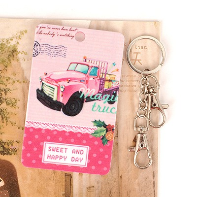 Lovely Picture Color Pink Truck Pattern Design Abs Resin Household goods