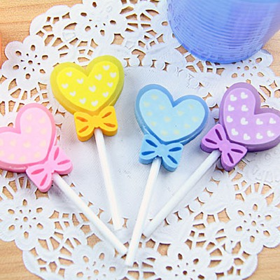 Carters Color Will Be Random Heart Shape Lollipop Design Rubber Other Creative Stationery