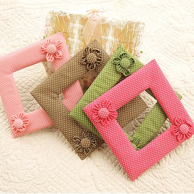 Rebel Color Will Be Random Square Shape Flower Decorated Design Cotton Household goods