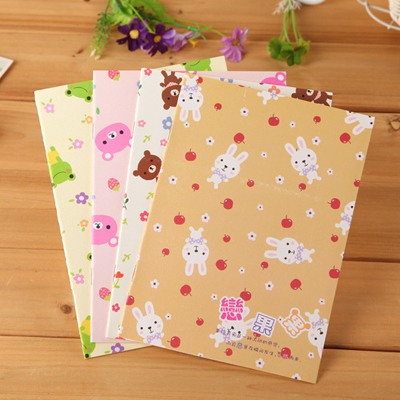 Lightest Color Will Be Random Mini Cartoon Animal Pattern Design Paper Notebook Agenda
