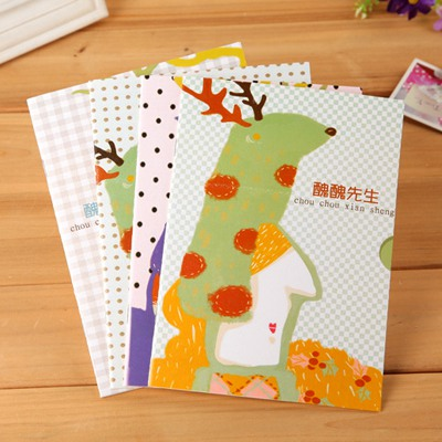 Tapered Color Will Be Random Cartoon Ugly Man Pattern Design Paper Notebook Agenda