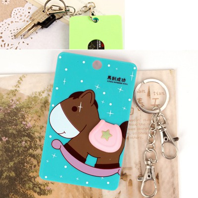 Polaris Picture Color Cute Animal Pattern Bus Card Holder Silicone Household goods