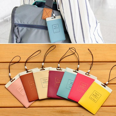 Native Color Will Be Random Square Shape Baggage Tag PVC Household goods