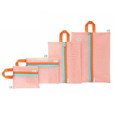 High Orange Multifunctional 4 Piece Set Design Grid Household goods