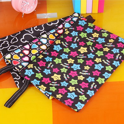 Square Color Will Be Random Cute Simple Design Thicken Mercerized Cloth Pencil Case Paper Bags