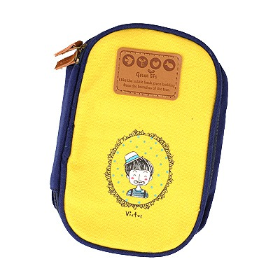 Bohemian Yellow Cartoon Image Multipurpose Receive Bag Linen Pencil Case Paper Bags