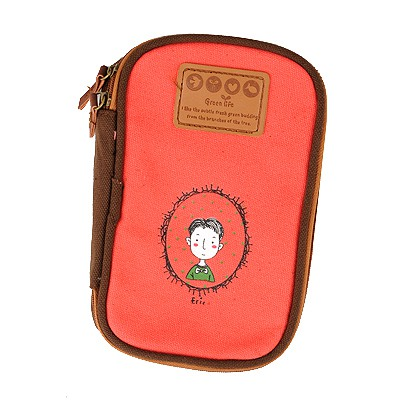 Floating Red Cartoon Image Multipurpose Receive Bag Linen Pencil Case Paper Bags