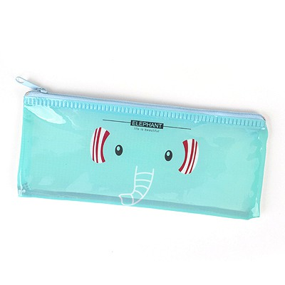 Top Rated Light Blue Cartoon Animal Grid Multifunction B6 Paper Bag PVC Pencil Case Paper Bags