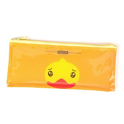 2012 Yellow Cartoon Animal Grid Multifunction B6 Paper Bag PVC Pencil Case Paper Bags