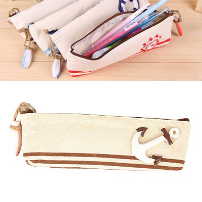 Bohemian Coffee Navy Wind Series Style Canvas Pencil Case Paper Bags