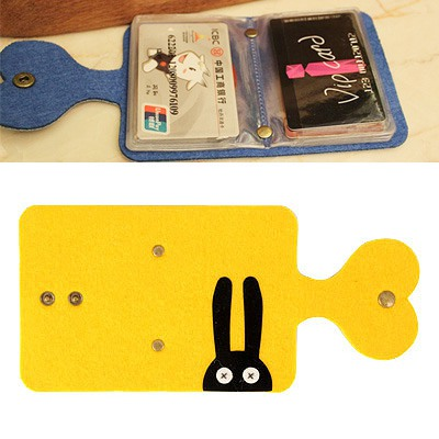 Diaper Yellow Monster Pattern Card Holder Felt Fabric Household goods
