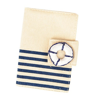 Cheerleadi Dark Blue Navy Wind Stripe Simple Design Canvas Household goods