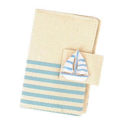 Monogramme Light Blue Navy Wind Stripe Simple Design Canvas Household goods