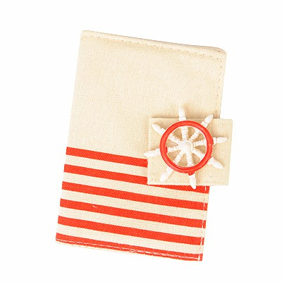 Fancy Red Navy Wind Stripe Simple Design Canvas Household goods