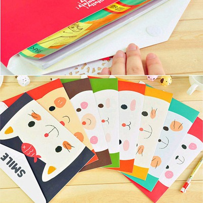 Organic Color Will Be Random Cartoon Animal Pattern Design Paper Pencil Case Paper Bags
