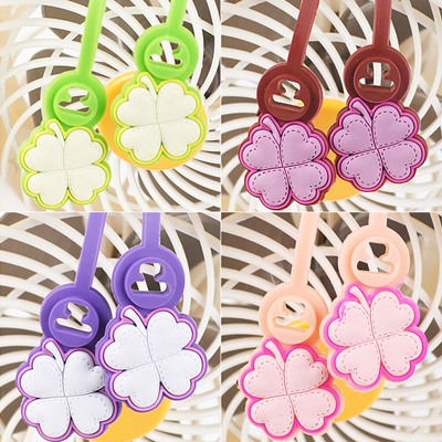 Chiropract Random Color Four Leaf Clover Shape Multifunction Design Rubber Cord Fixer