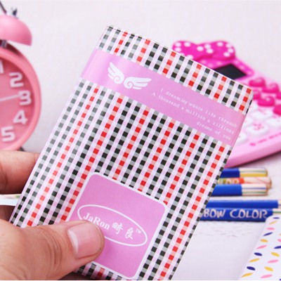 Fused Pink Plaid Pattern Card Holder 12 Card PVC Household goods