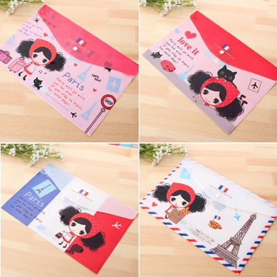 Fitness Color Will Be Random Snap Fastener Type Waterproof Paper Bag PVC Pencil Case Paper Bags