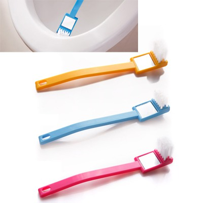 Pierced Color Will Be Random Visual Mirror Grooves Cleaning Brush ABS Household goods