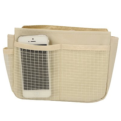 Pendants Beige Multifunction Visible Grid Outer Organizer Bag Oxford Fabric Home Storage Bags