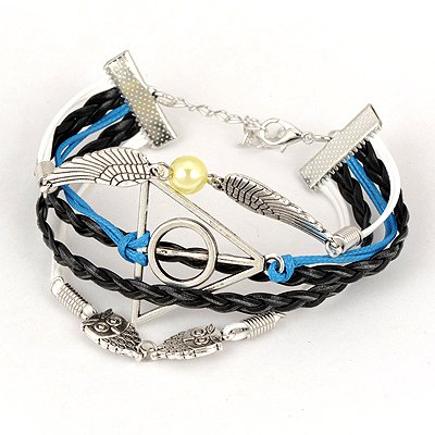 Hurley Black Wings Owl Design Alloy Korean Fashion Bracelet