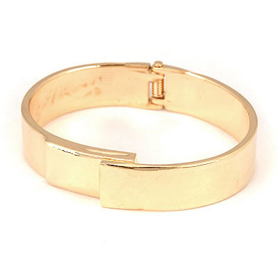 Wholesale Gold Color Simple Circle Design Alloy Fashion Bangles