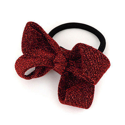 Correspond Claret-Red Bowknot Design Fabric Hair band hair hoop