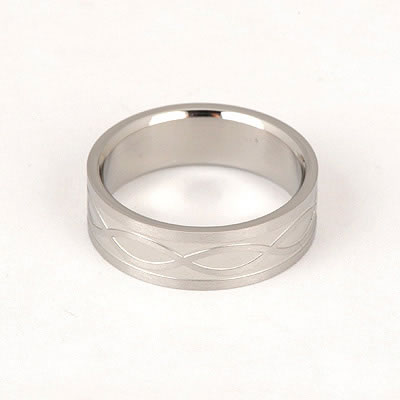 Girls Silver Color Wave Design Titanium Fashion Rings