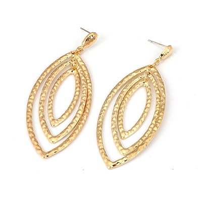 Pendants Gold Color Ellipse Shape Design Alloy Korean Earrings