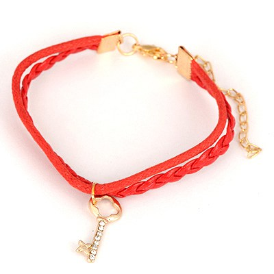 Monarch Red Key Pendant Design Alloy Korean Fashion Bracelet