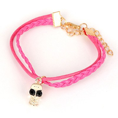 Japanese Plum Red Skull Pendant Design Alloy Korean Fashion Bracelet