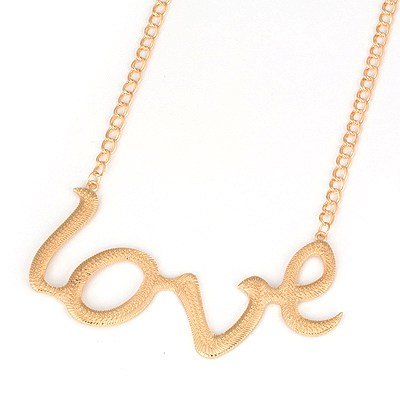 Noble Gold Color Love Letters Pendant Alloy Pendants