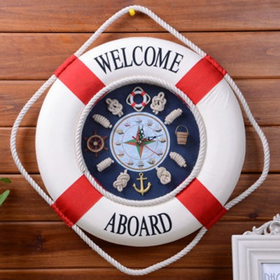 Torrid Color Will Be Random Life Buoy Wall Clock Design Cloth Art Household goods