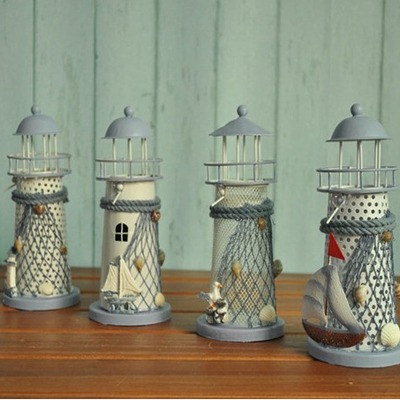 Profession Color Will Be Random Wrought Iron Lighthouse Design Wooden Household goods