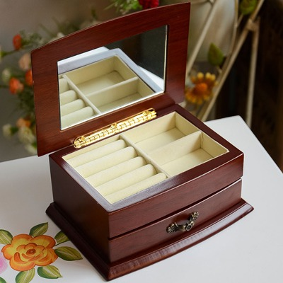 Homemade Color Will Be Random Simple Design Soild Wood Jewelry box